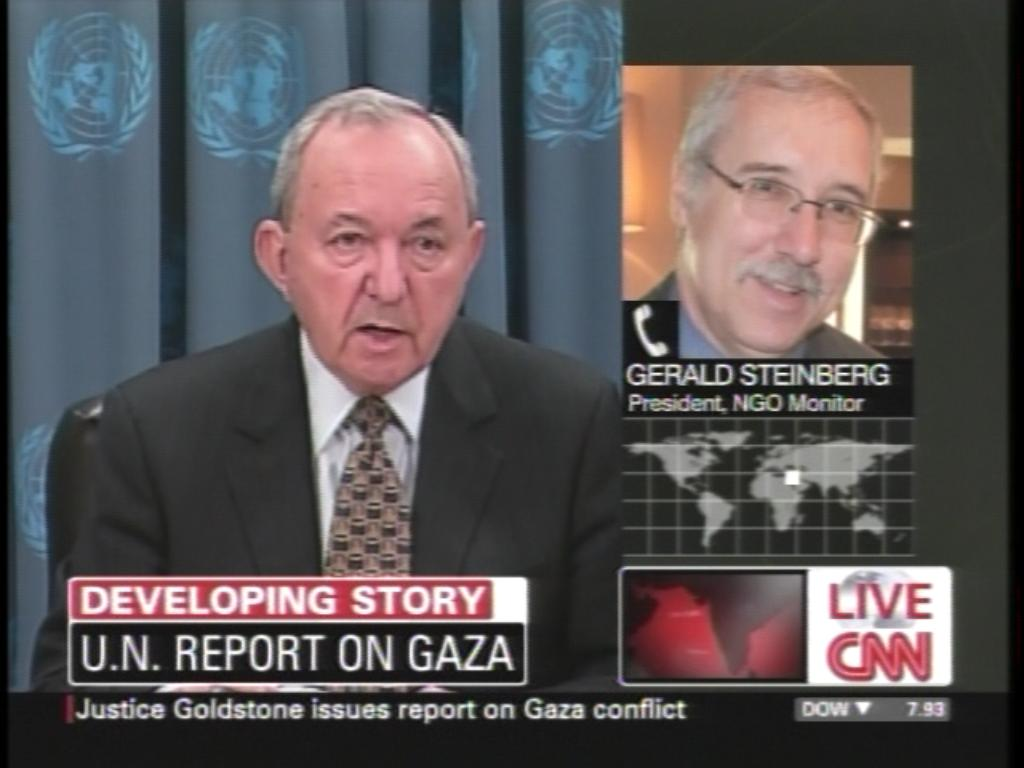 2009 CNN Commenting on Goldstone's UN press conference